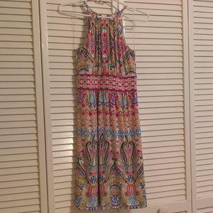 Gorgeous London Times Magenta Paisley Dress